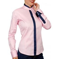Vêtements Femme Chemises / Chemisiers Andrew Mc Allister chemise col mao doraleen rose Rose