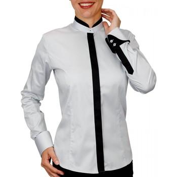 Vêtements Femme Chemises / Chemisiers Andrew Mc Allister chemise col mao doraleen gris Gris