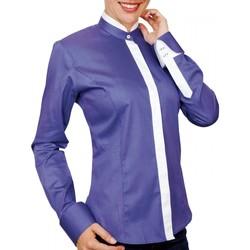 Vêtements Femme Chemises / Chemisiers Andrew Mc Allister chemise col mao becky bleu Bleu