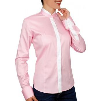 Vêtements Femme Chemises / Chemisiers Andrew Mc Allister chemise col mao becky rose Rose