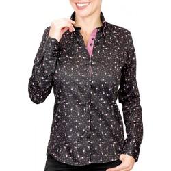 Vêtements Femme Chemises / Chemisiers Andrew Mc Allister chemise double col wilma noir Noir