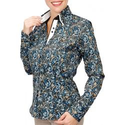 Vêtements Femme Chemises / Chemisiers Andrew Mc Allister chemise double col penny bleu Bleu
