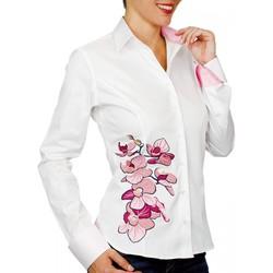 Vêtements Femme Chemises / Chemisiers Andrew Mc Allister chemise brodee paige blanc Blanc