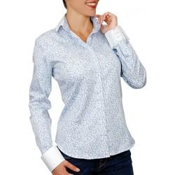 Vêtements Femme Chemises / Chemisiers Andrew Mc Allister chemise a col blanc patty bleu Bleu