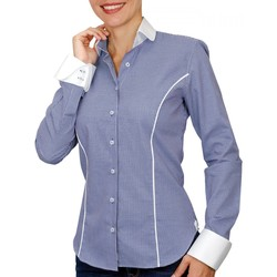 Vêtements Femme Chemises / Chemisiers Andrew Mc Allister chemise a col blanc chester bleu Bleu