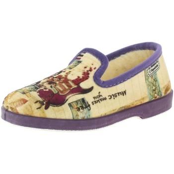Chaussures Femme Chaussons La Maison De L'espadrille 7654 violet