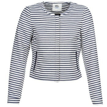 Vêtements Femme Vestes / Blazers Vero Moda MALTA Marine / Blanc