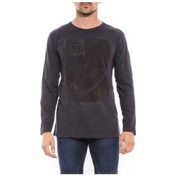 Vêtements Homme T-shirts & Polos Ritchie T-shirt manches longues col rond JALEO Bleu marine