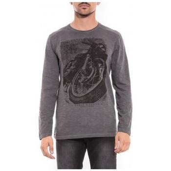 Vêtements Homme T-shirts & Polos Ritchie T-shirt manches longues col rond JALEO Gris foncé