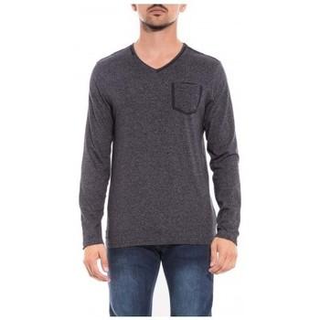 Vêtements Homme T-shirts & Polos Ritchie T-shirt manches longues col V JAZZOR Bleu marine