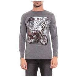 Vêtements Homme T-shirts & Polos Ritchie T-shirt manches longues col rond JORMON Gris chiné