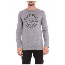 Vêtements Homme T-shirts & Polos Ritchie T-shirt manches longues col rond en coton JUKE Noir