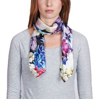 Accessoires textile Femme Echarpes / Etoles / Foulards Allée Du Foulard Carré de soie Premium Galia Multicolore - 85x85 cm multicolore
