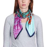 Accessoires textile Femme Echarpes / Etoles / Foulards Silkart Carré de soie  Van Gogh Iris Rouge - 85x85 cm rouge