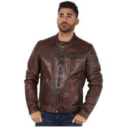 Vêtements Homme Vestes en cuir / synthétiques Daytona Blouson  Starget en cuir ref_day42411 Cognac Marron