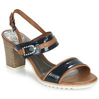 Chaussures Femme Sandales et Nu-pieds Marco Tozzi TRELEME Camel / Marine