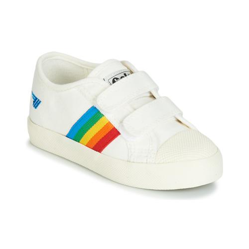 Chaussures Enfant Baskets basses Gola COASTER RAINBOW VELCRO Blanc