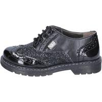 Chaussures Fille Derbies Solo Soprani élégantes noir glitter cuir BT296 noir