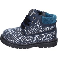 Chaussures Fille Bottines Asso bottines bleu daim strass BT297 bleu