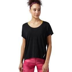 Vêtements Femme T-shirts manches courtes Reebok Sport One Series Burnout Noir