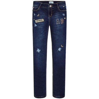 Vêtements Fille Jeans droit Mayoral PANTALON LARGO TEJANO FANTASIA Blue