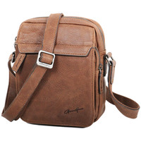 Sacs Homme Besaces Gerard Henon Sacoche Portée Travers Collection Vintage 7102 Marron clair