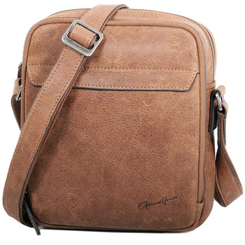 Sacs Homme Besaces Gerard Henon Pochette Portée Travers Collection Vintage 7152 Marron clair
