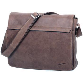 Sacs Homme Besaces Gerard Henon Besace A4 Grande taille Collection Vintage 7173 Chocolat