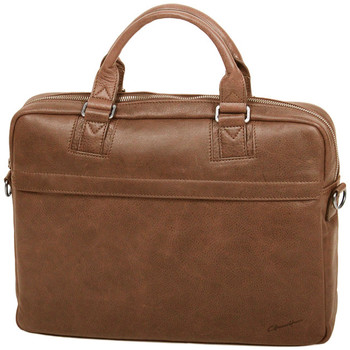 Sacs Homme Sacs ordinateur Gerard Henon Porte-ordinateur 15 Collection Vintage 7181 Marron clair