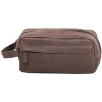 Sacs Trousses de toilette Gerard Henon Trousse de toilettes Collection Vintage 7108 Chocolat