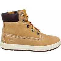 Chaussures Enfant Boots Timberland Davis Square nubuck Enfant Ocre Ocre