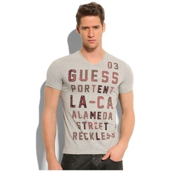 Vêtements Homme T-shirts manches courtes Guess T-Shirt  Reckless Grey