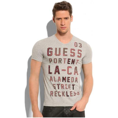 Vêtements Homme T-shirts manches courtes Guess T-Shirt  Reckless Grey
