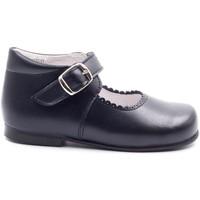 Chaussures Fille Ballerines / babies Boni Classic Shoes Babies haute en cuir à boucle - NEW ISABELLE Bleu Marine