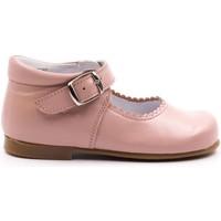 Chaussures Fille Ballerines / babies Boni Classic Shoes Babies haute en cuir à boucle - NEW ISABELLE Rose