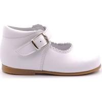 Chaussures Fille Ballerines / babies Boni Classic Shoes Babies haute en cuir à boucle - NEW ISABELLE Blanche