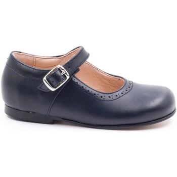 Chaussures Fille Ballerines / babies Boni Classic Shoes Babies en cuir à boucles - MINI AGATHE Bleu Marine