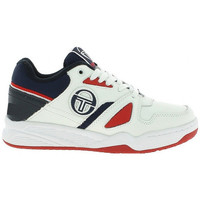 Chaussures Homme Baskets basses Sergio Tacchini Basket  TOP PLAY LTHR - STM822005-WHITE-NAVY-RED Blanc