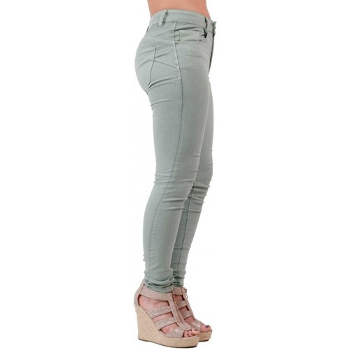 Haute Stretch Jean Jeans Vert Taille Clair En Slim Primtex Femme hrdsQCtx