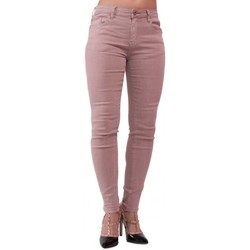 Vêtements Femme Jeans skinny Primtex Jean skinny  rose taille haute coupe stretch Rose