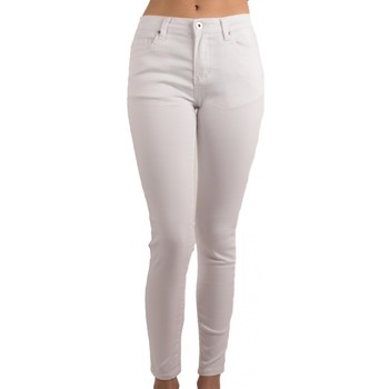 Vêtements Femme Jeans slim Primtex Jean  blanc taille haute coupe slim ultra stretch - Jeaniful Blanc