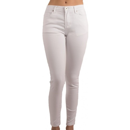 Vêtements Femme Jeans slim Primtex Jean  blanc taille haute coupe slim ultra stretch - Jeaniful Blanc