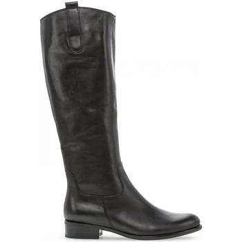 Chaussures Femme Bottes Gabor Bottes cavalières Noir