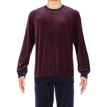 Vêtements Homme Pyjamas / Chemises de nuit Hom - pyjama long BORDEAUX