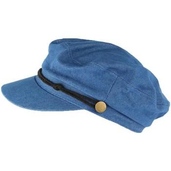 Accessoires textile Casquettes Léon Montane Casquette de marin bleu denim tendance coton Flybust Bleu