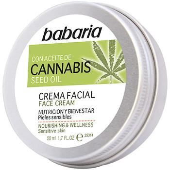 Beauté Hydratants & nourrissants Babaria Cannabis Crema Facial Nutrición Y Bienestar  50 ml