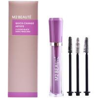 Beauté Femme Mascaras Faux-cils M2 Beauté Quick-change 3 Looks Black Nano Mascara 1 u