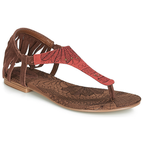 Chaussures Femme Sandales et Nu-pieds Desigual SHOES_LUPITA_LOTTIE Cognac / Rouge