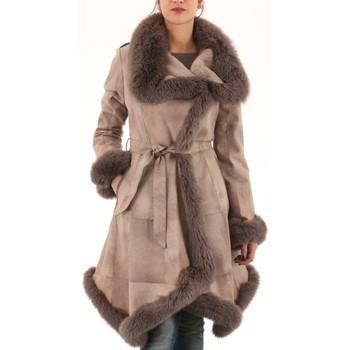 Vêtements Femme Manteaux Milpau AL 60-122 Chanvre Beige