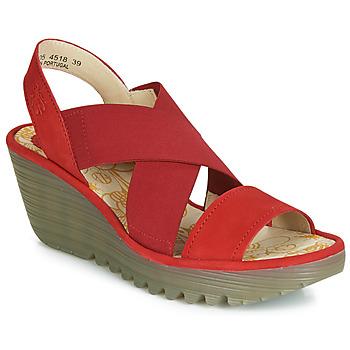 Chaussures Femme Escarpins Fly London YAJI Rouge